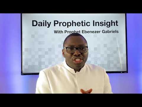 Prophetic Insight - January 6,2020