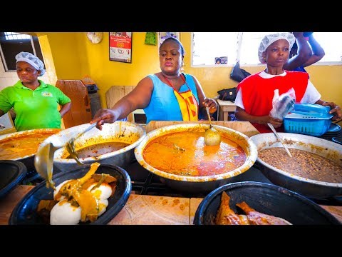 First Time Trying GHANAIAN FOOD!! Amazing Palm Nut Soup in Accra, Ghana, West Africa! - UCyEd6QBSgat5kkC6svyjudA