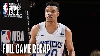 LAKERS vs KNICKS | Knox Scores 25, Barrett Records Double-Double | MGM Resorts NBA Summer League