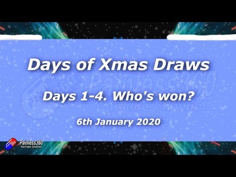 Days of Xmas Prize Draws: Days 1-4 Winners! - UCp1vASX-fg959vRc1xowqpw