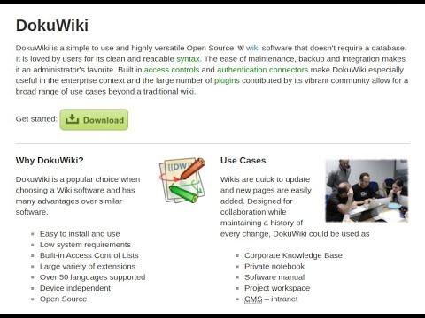 DokuWiki Document Wiki Application - Part 1