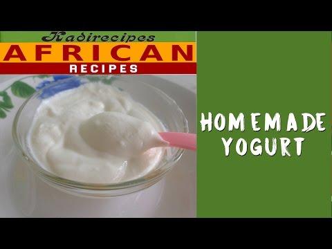 Homemade natural yoghurt -- Kadirecipes