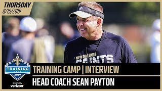 Sean Payton from Day 1 of Saints-Chargers Joint Training Camp Practice | New Orleans Saints