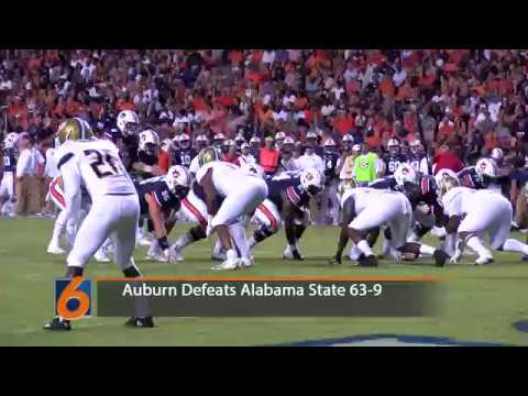 Highlights of Auburn's 63-9 victory over the Alabama State Hornets