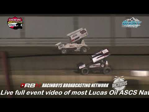"Highlights of Night One of The Battle at Big Sky for the American Sprint Car Series National Tour from Big Sky Speedway in Billings MT held July 19 2019. Watch this complete race and hundreds of others On-Demand by becoming a RacinBoys premium member. Only $6.50 a month or $50 a year. The $29.99 a month ""All Access Pass"" includes LIVE full event video of most Lucas Oil ASCS National events. Live full event coverage of additional events will be added. In addition, ""All Access"" members will receive access to all other On-Demand video and all live audio race broadcasts on RacinBoys.com. Join Today at RacinBoys.com - dirt track racing video image"