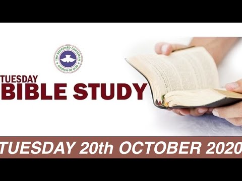 RCCG OCTOBER 20th 2020 BIBLE STUDY  WHY SHOULD I KEEP MOVING FORWARD