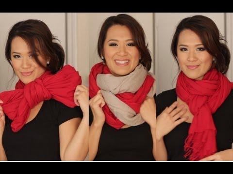 Scarf Tying Ideas - 6 Ways to Wear Your Scarves - UCevNJDNNIKmG13YmTqLnZ-A