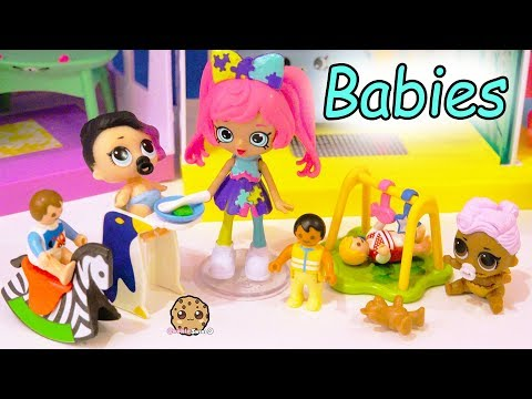 Shoppies Baby Babysitter Babysitting LOL Surprise + Playmobil Babies - Toy Video - UCelMeixAOTs2OQAAi9wU8-g