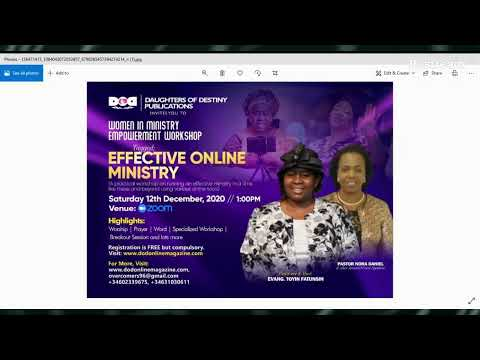 UNDERSTANDING YOUR UNIQUENESS  & MAINTAINING IT AS A FEMALE MINISTER 19/11/20