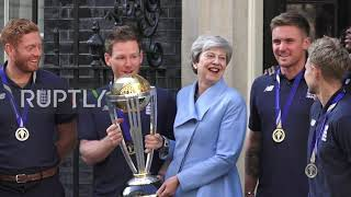 UK: Theresa May welcomes cricket champs to 10 Downing Street