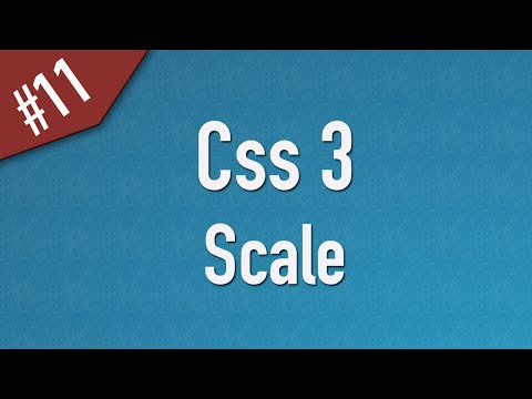 [ Css3 In Arabic ] #11 – 2D Transform – Scale