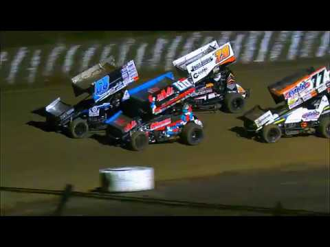 360 Sprintcar All Star Challenge A-Main Final 8 Laps Rain Stoppage Simpson Speedway 13-1-2018 - dirt track racing video image
