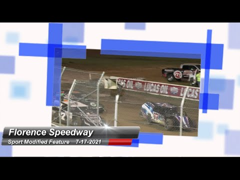 Florence Speedway - Sport Modified Feature - 7/17/2021 - dirt track racing video image