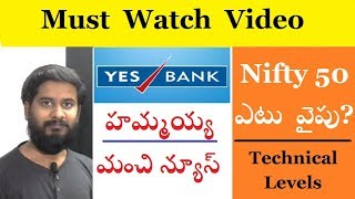 Yes Bank latest news and nifty 50 levels technical analysis by trading marathon