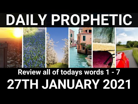 Daily Prophetic 27 January 2021 All Words