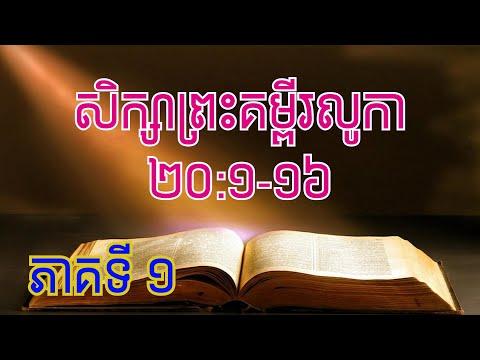 Luke 20:1-16 (1/2)  June 25, 2020