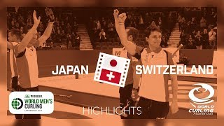 HIGHLIGHTS: Japan v Switzerland - Bronze - Pioneer Hi-Bred World Men's Curling Championship 2019