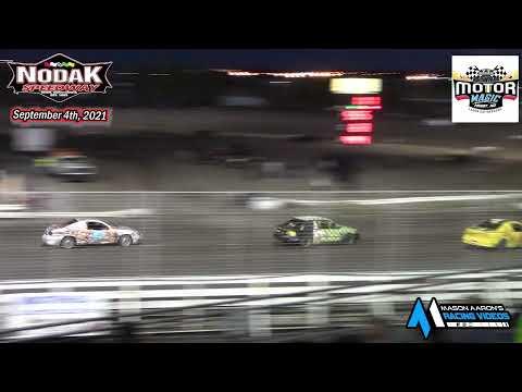 Nodak Speedway IMCA Sport Compact A-Main (Motor Magic Night #2) (9/4/21) - dirt track racing video image