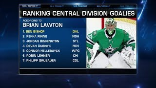 NHL Tonight:  Central Goalies:  Ranking the top goaltenders in the Central Division  Aug 22,  2019