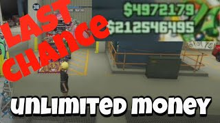 LAST CHANCE FOR THIS UNLIMITED MONEY GLITCH GTA 5 ONLINE