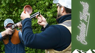 Ben Husthwaite on the incoming chandelle clay pigeon - Smokin' Targets