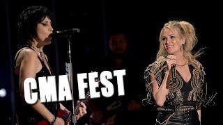Carrie Underwood, Joan Jett Surprise Stun CMA Fest Crowd With Medley