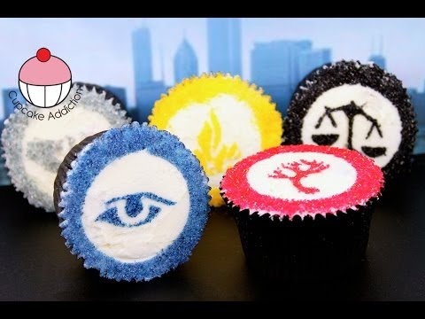 Divergent Cupcakes PLUS How to Make a DIY Cupcake Stencil! By Cupcake Addiction - UCxytOEPP99jj8mqVGAO7haQ