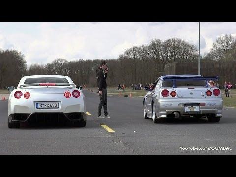 Nissan Skyline GT R34 Mines Stage 2 +++ vs Nissan GT-R Switzer P800 - UCwn0jaGbgMkYioOWBzMog1Q