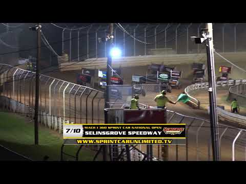 Selinsgrove Speedway | Mach 1 360 Sprint Car National Open Highlights | 7/10/21 - dirt track racing video image