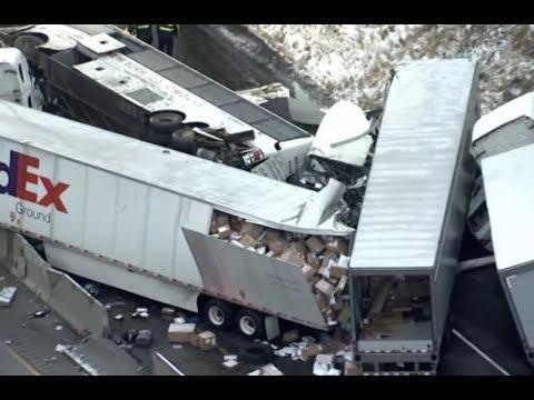 Breaking Pennsylvania Pile Up Crash 5 Dead 60 Injured Turnpike Turns Tragic
