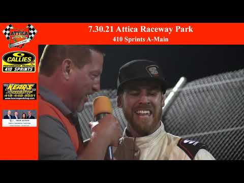 7.31.21 Attica Raceway Park 410 Sprints A-Main - dirt track racing video image