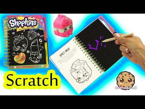 Shopkins Season 1 Sketch Surprise Scratch Drawing Art Book Scratching Cookieswirlc - UCelMeixAOTs2OQAAi9wU8-g