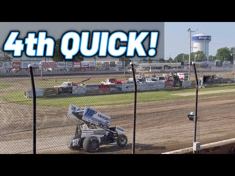Tanner Holmes 4TH QUICK | Fremont Speedway | OHIO Speedweek - dirt track racing video image