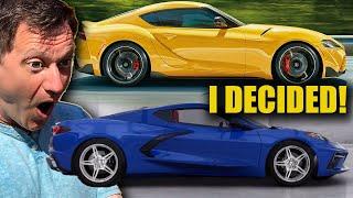 2020 Corvette OR New Supra - I FINALLY Picked My Next Car!