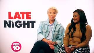 Emma Thompson & Mindy Kaling Talk 'Late Night' | Studio 10