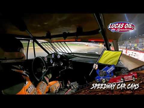 #54 David Hendrix - USRA Stock Car - 10-7-2021 Lucas Oil Speedway - In Car Camera - dirt track racing video image