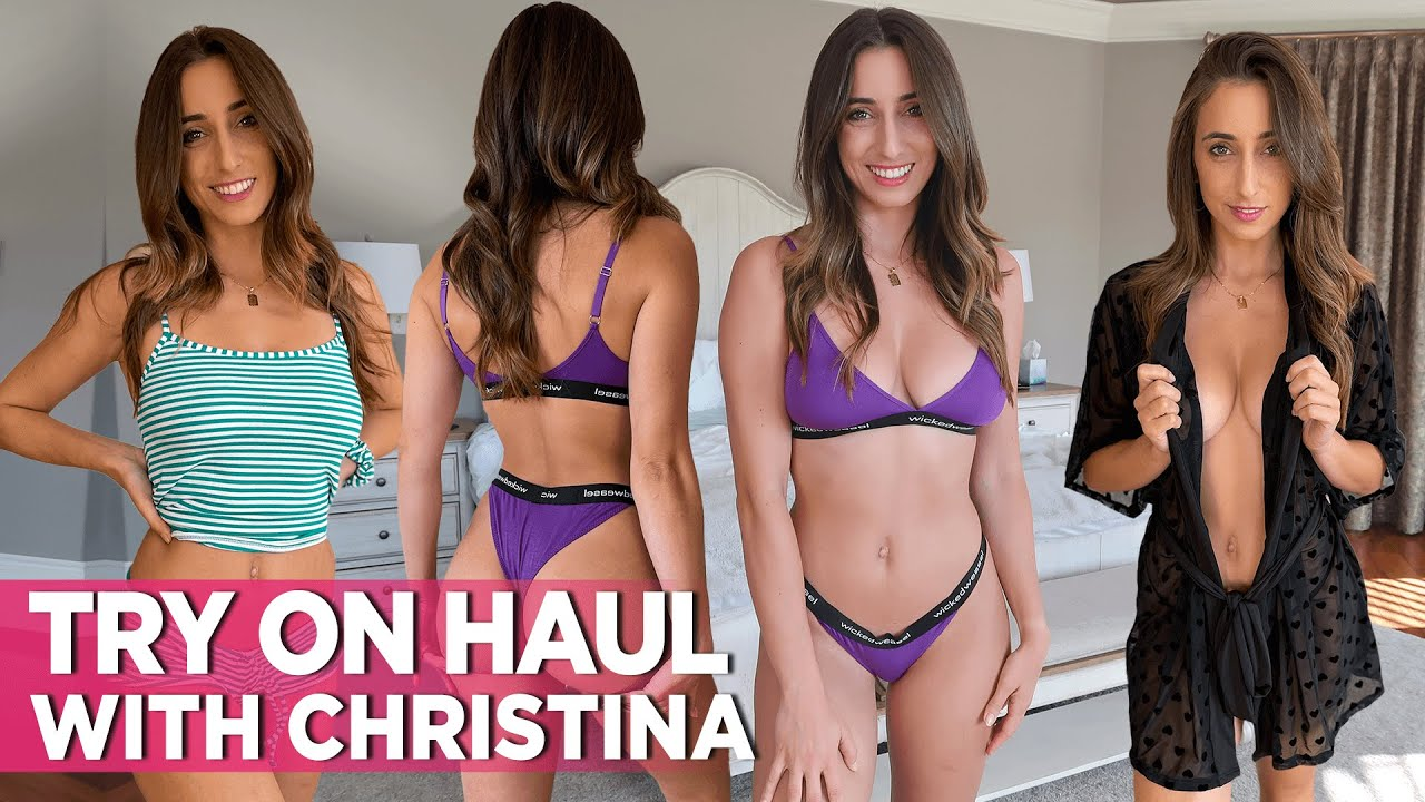 Sexy Lingerie Try On Haul Video: Sheer & Cozy With Christina!