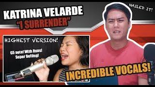 Katrina Velarde - I Surrender (One Taker Sessions) | SINGER REACTS