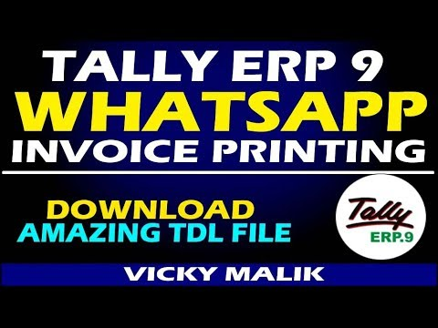 Tally ERP 9 Whatsapp Invoice TDL File || How to Send Tally Invoice