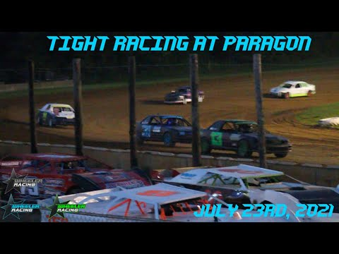 Tight Racing @ Paragon Speedway!   Hornet Racing - dirt track racing video image