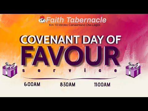 DOMI STREAM:COVENANT DAY OF FAVOUR  3RD SERVICE   4, OCTOBER  2020