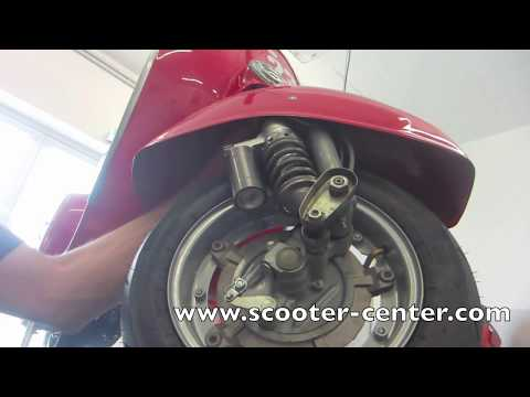 Modern Vespa Front Wheel Removal / Installation | FpvRacer lt