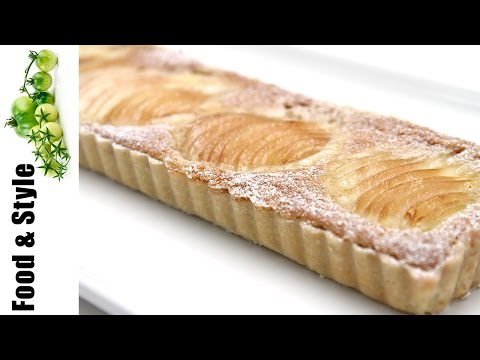 Pear Tart with Hazelnut Frangipane & Cardamom Chantilly - Learn How to Make, the Perfect Tart!