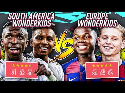 Europe's WONDERKIDS vs South America's WONDERKIDS | FIFA 20 Career Mode Experiment