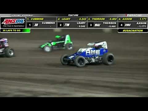 2021 8 27 Kokomo USAC Sprint Highlights - dirt track racing video image