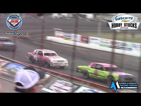 Sheyenne Speedway Hobby Stock A-Main (8/7/21) - dirt track racing video image