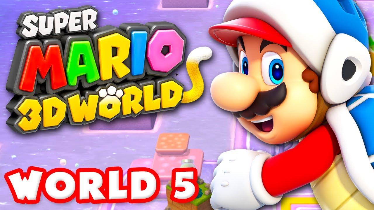 Super Mario 3D World - World 5 100% (Nintendo Wii U Gameplay