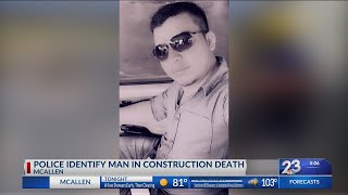 Construction accident victim identified