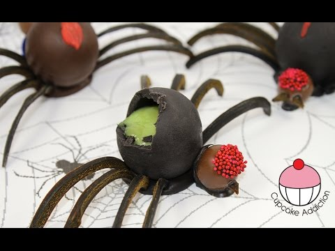 Halloween Jello Spiders - No Bake Halloween Treats with Cupcake Addiction - UCxytOEPP99jj8mqVGAO7haQ