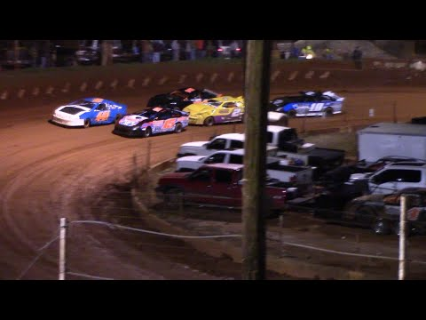 Stock Four A's on a cold opening night at the Winder Barrow Speedway - dirt track racing video image